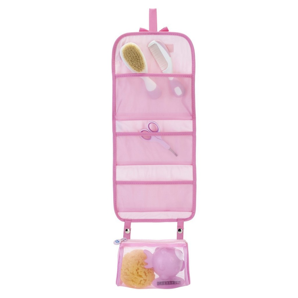Set de higiene del bebé 5 en 1 Chicco Mini Beauty abierto