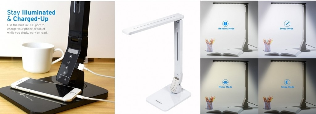 Lámpara de escritorio Alumna A41-C Etekcity con puerto de carga USB
