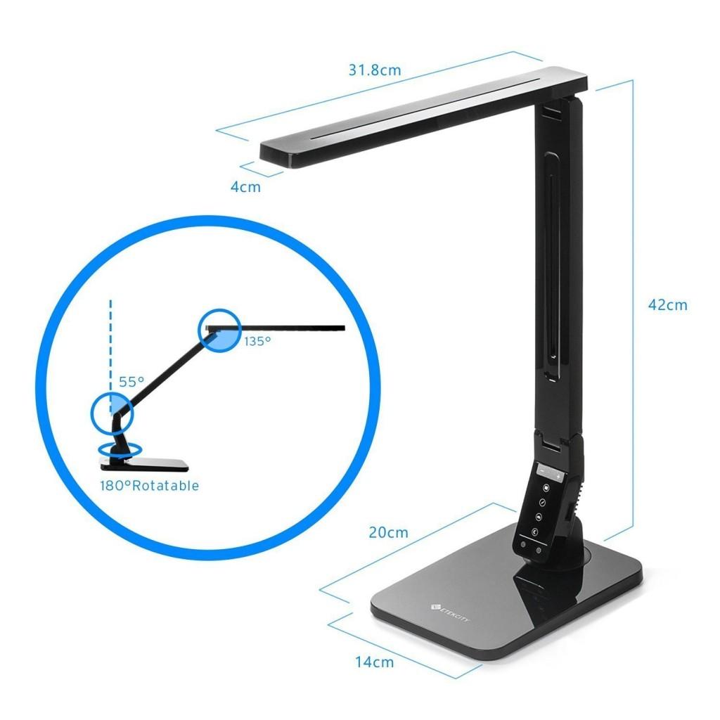 Lámpara de escritorio Alumna A41-C Etekcity medidas