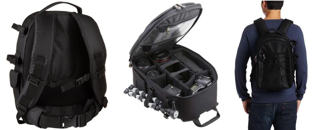 Mochila cámara réflex y accesorios AmazonBasics