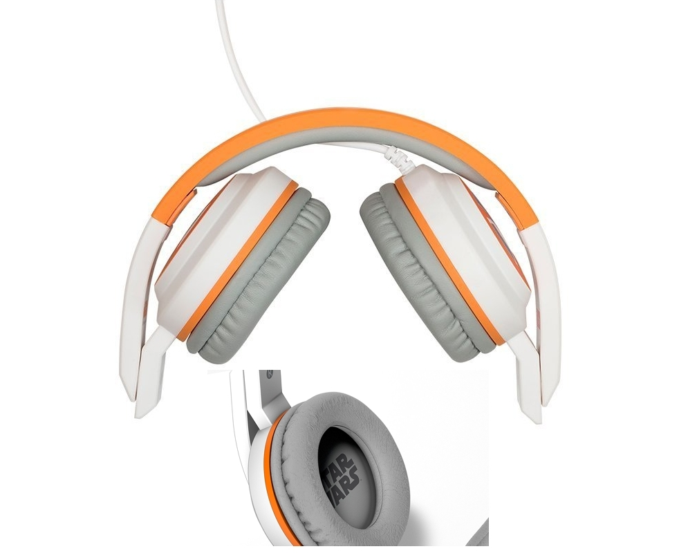 Auriculares Tribe Star Wars TFA POP diseño BB-8 plegables