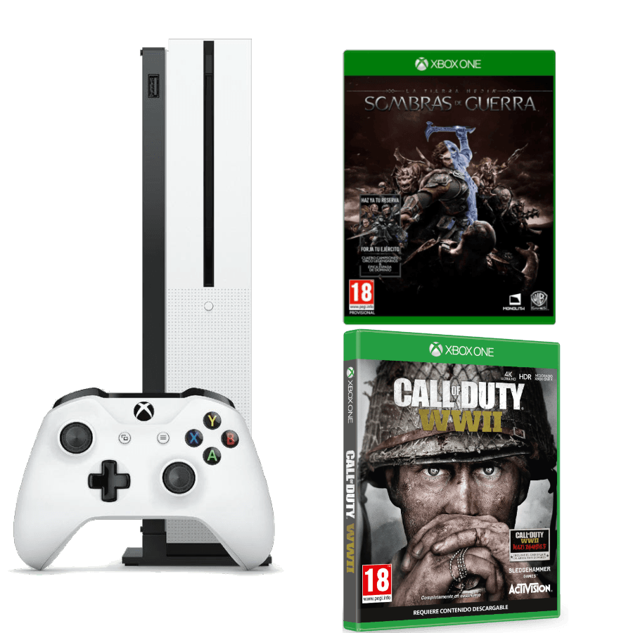 packs microsoft xbox one s 500gb con dos juegos. Black Bedroom Furniture Sets. Home Design Ideas