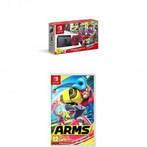 Pack Nintendo Switch + Super Mario Odyssey y el juego Arms