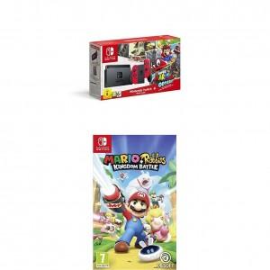 Pack Nintendo Switch + Super Mario Odyssey y el juego Mario Rabbids Kingdom Battle