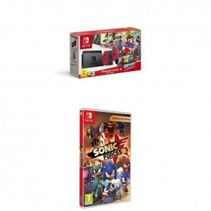Pack Nintendo Switch + Super Mario Odyssey y el juego Sonic Forces Bonus Edition