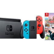Pack consola Nintendo Switch con mandos Joy-Con rojo y azul + juego Monopoly Switch