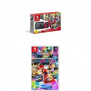 Packs Nintendo Switch + Super Mario Odyssey y el juego Mario Kart 8 Deluxe