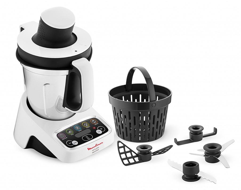 Robot de cocina multifunción Moulinex Volupta HF404113 contenido