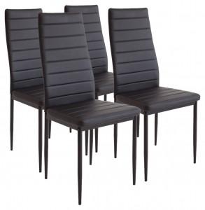 Set de 4 sillas de comedor Albatros 2551 MILANO en color negro