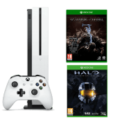 Xbox One S + Halo The Master Chief Collection + La Tierra Media Sombras de Guerra