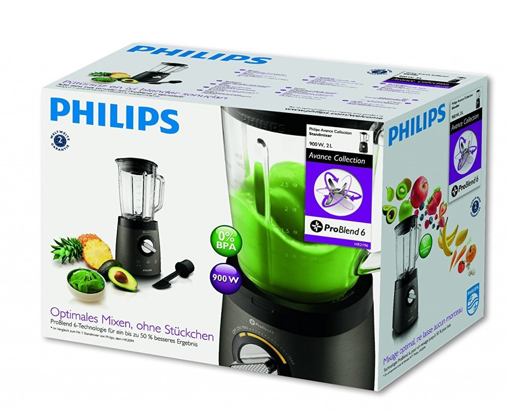 Batidora vaso Philips HR2196 08