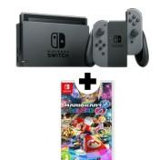 Pack Nintendo Switch con Joy-Con gris y el juego Mario Kart Deluxe
