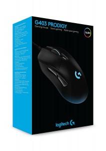 Ratón óptico con cable para gaming Logitech G403 Prodigy
