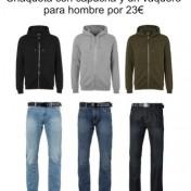 Chaqueta con capucha y un jean para hombre en zavvi