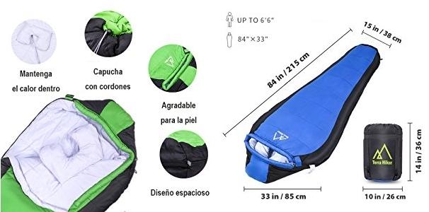 Saco de dormir Terra Hiker TH0110 verde