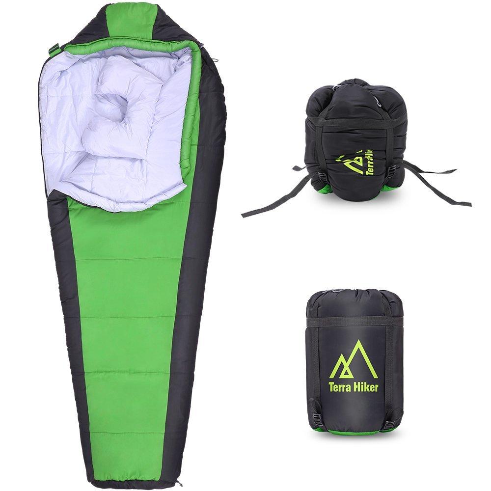 Saco de dormir tipo momia Terra Hiker TH0110 verde