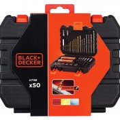 Set de 50 piezas para atornillar y taladrar Black and Decker A7188