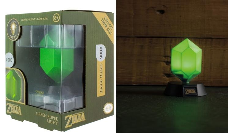 Lámpara 3D Nintendo Legend of Zelda Rupia Verde