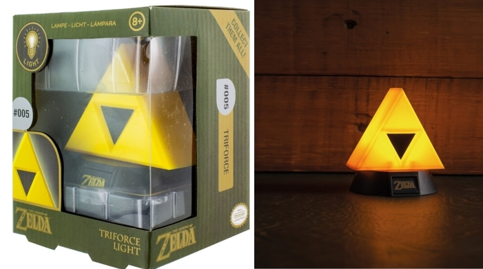 Lámpara 3D Nintendo Legend of Zelda Trifuerza