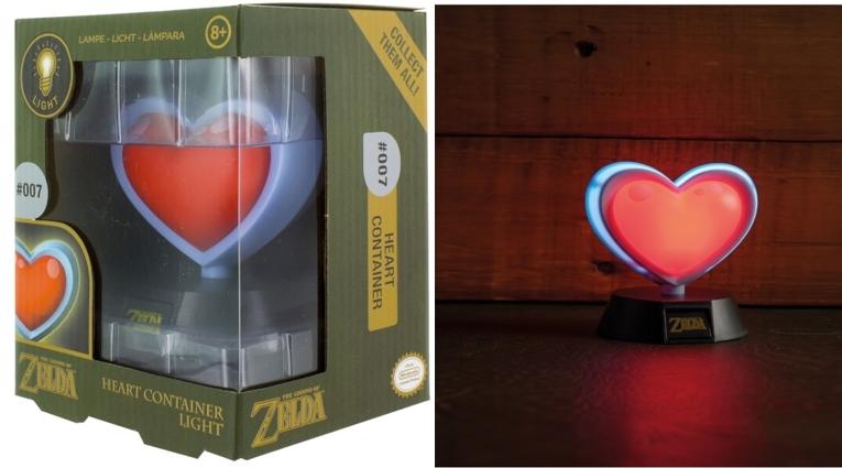 Lámpara 3D Nintendo The Legend of Zelda Contenedor de Corazón