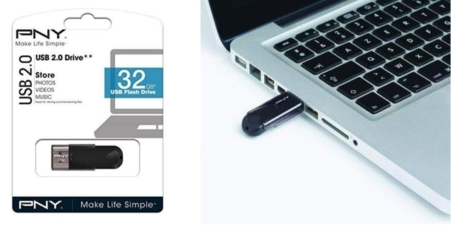 Pendrive PNY con capacidad de 32 GB
