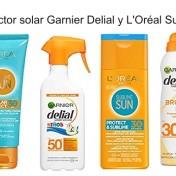 3x2 en protector solar Garnier Delial y L'Oréal Sublime Sun