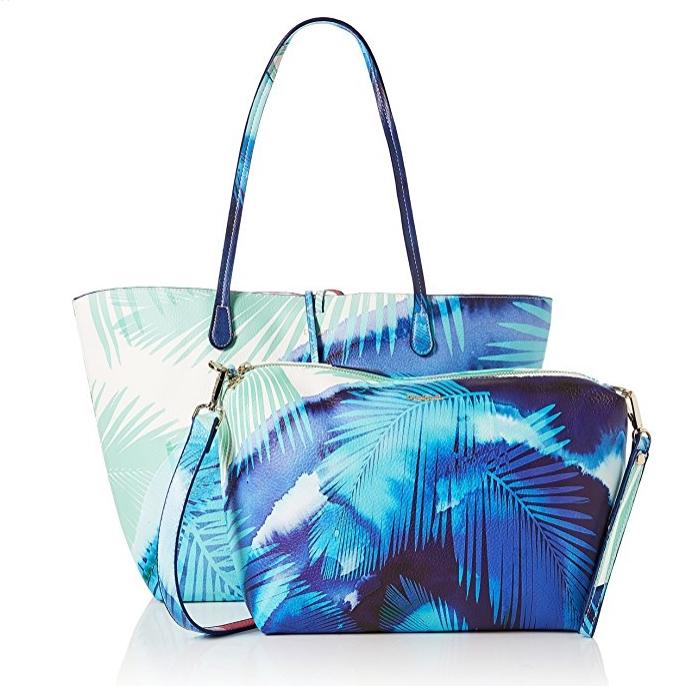 Bolso Shopper reversible Desigual Blue Palms Capri