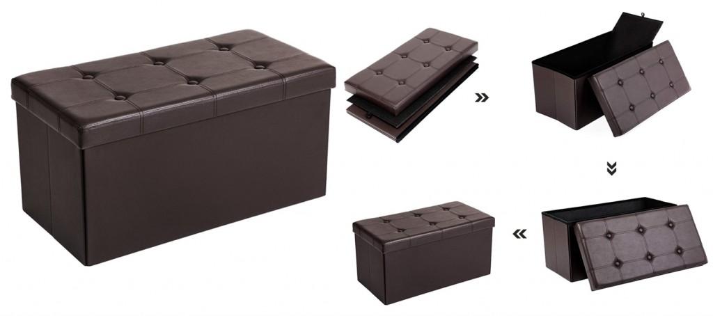 Banco de almacenaje Songmics LSF40Z en color marrón