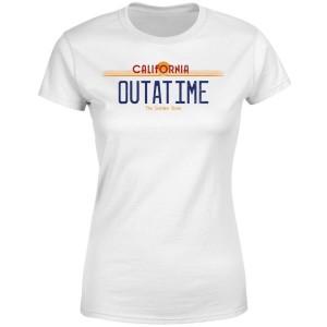 Camiseta matrícula Outatime para mujer