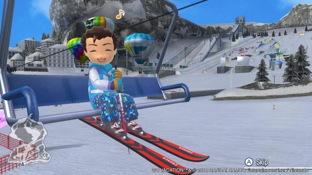 Juego Go Vacation complejo nevado