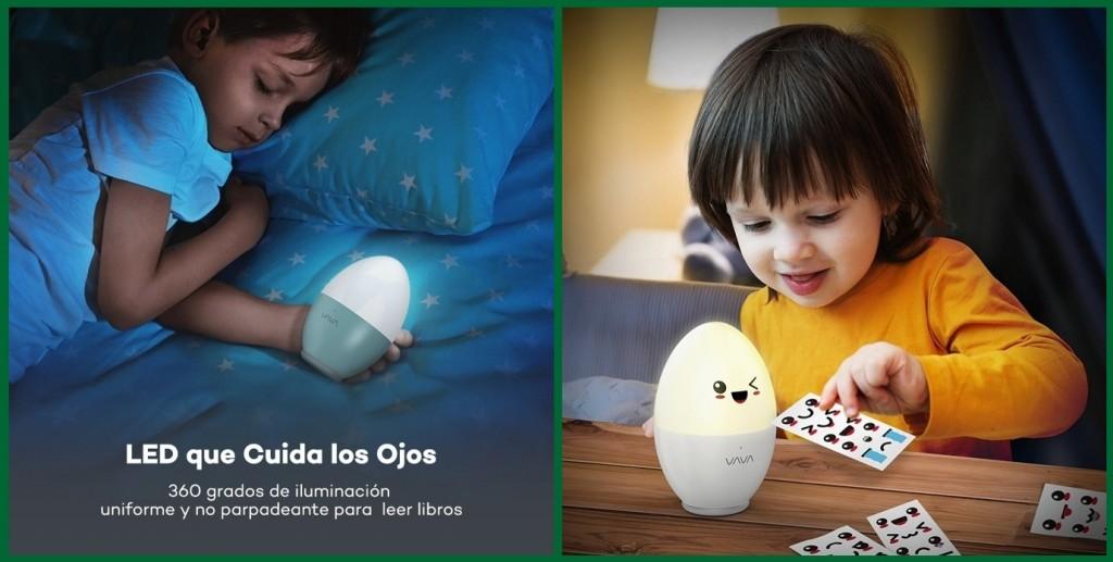 Luz nocturna infantil VAVA VA-HP008 incluye pegatinas