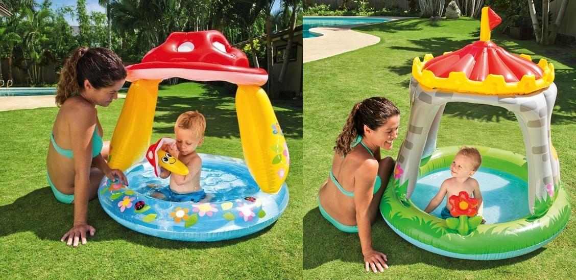Piscina hinchable infantil Intex con parasol
