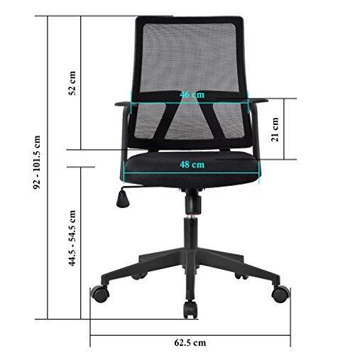 Silla de escritorio Langria LGR-6125589 dimensiones