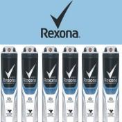 Pack 6 botes de desodorante en spray Rexona invisible Ice Fresh
