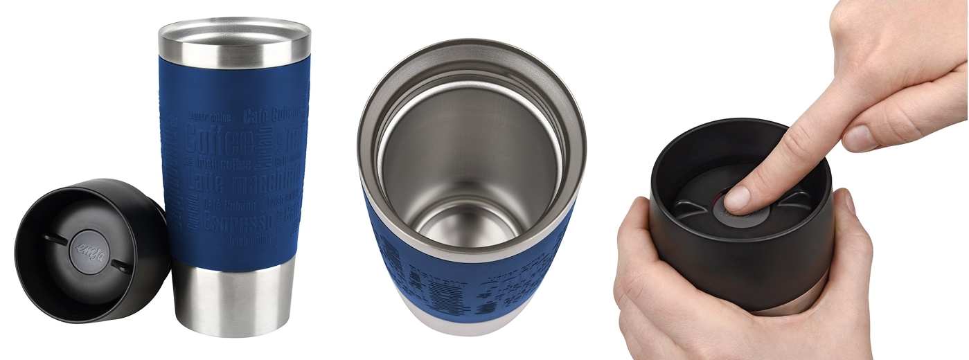 Taza térmica Emsa Travel Mug color azul