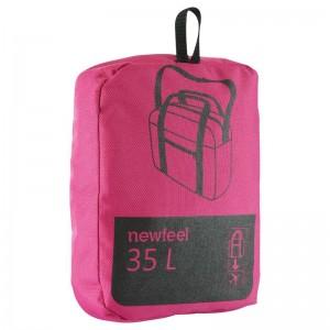 Bolsa plegable cabina 35L rosa NEWFEEL plegada