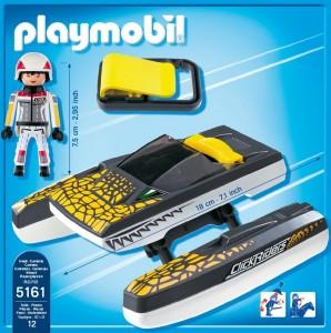 Playmobil Click & Go Croc Speedboat
