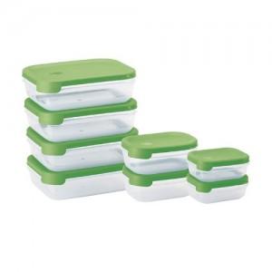 Set de 8 tapers rectangulares Juypal verde