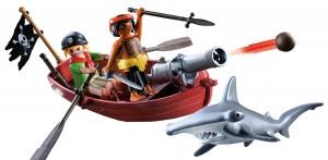 Bote pirata con tiburón Playmobil1