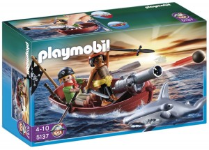 Bote pirata con tiburón Playmobil2