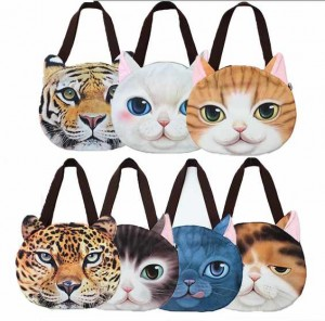 Bolso estampado caras gatos
