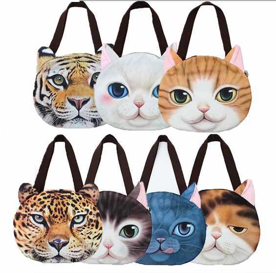 con de caras Banggood estampados gato bolso de H5qRRfw