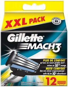 12 cuchillas Gillette Mach3