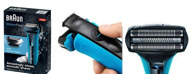 Afeitadora Braun WaterFlex WF2s color azul