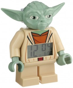 Reloj despertador con figura Yoda Lego Star Wars