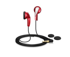 Auriculares de botón Sennheiser MX 365 rojos