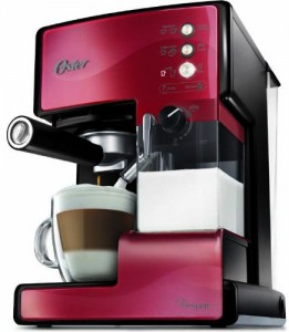 Cafetera Oster Prima Latte color rojo