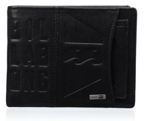 Cartera de piel Billabong Scope negra