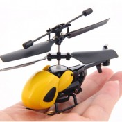 Mini helicóptero radiocontrol Qingsong QS5013 amarillo