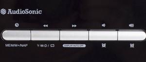 Radio despertador Audiosonic CL-1492 botones